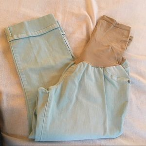 Indigo Blue maternity cropped cuffed jeans